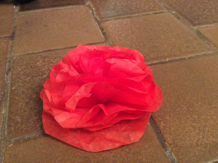 Red paper rose