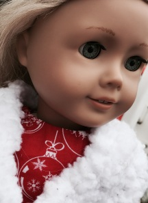 My sister's doll in the red dress