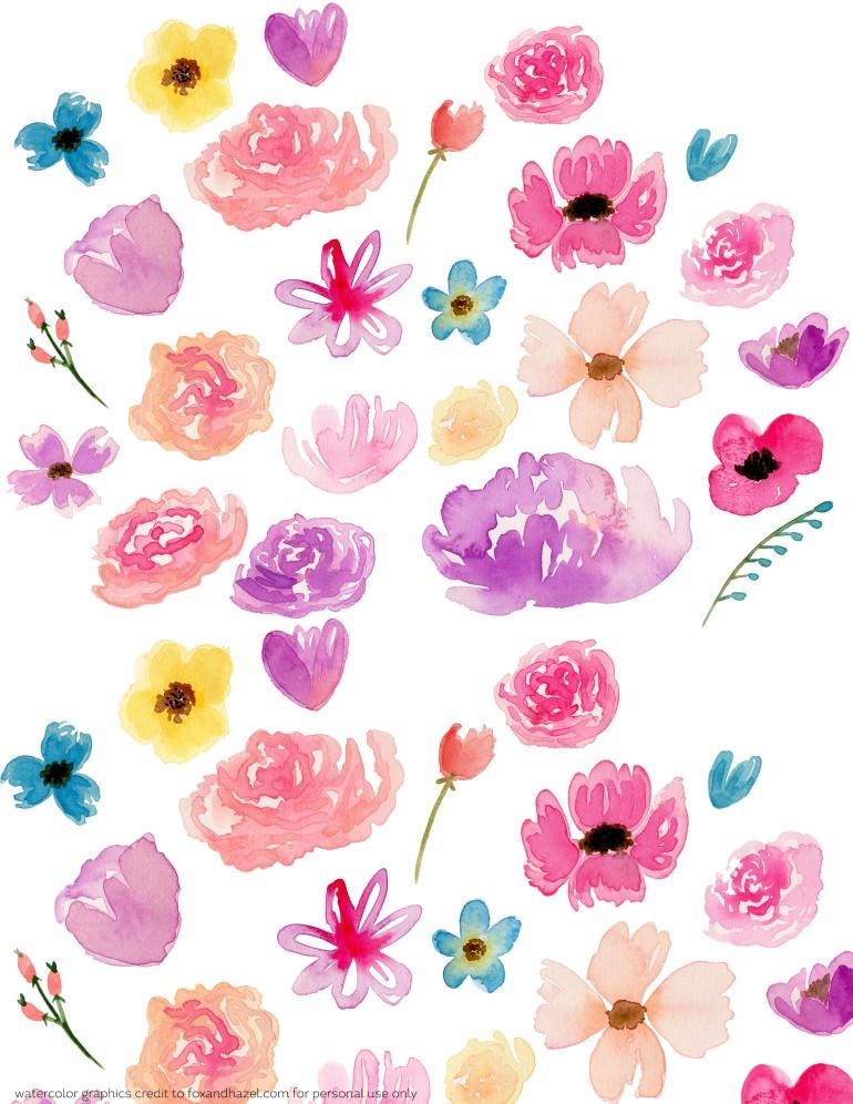 Flower scrapbook paper