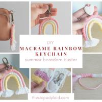 DIY Macrame Rainbow Keychain (Summer Boredom Buster Idea)