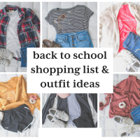 High School Outfit Ideas 2020 + Back To School Shopping List