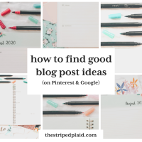 How To Find Good Blog Post Ideas (On Pinterest & Google)