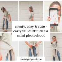 Comfy, Cozy & Cute - Early Fall Outfit & Mini Photoshoot
