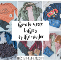 How To Wear Basic Tshirts In The Winter