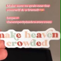 Make Heaven Crowded Stickers | Story Post