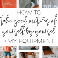 How To Take GOOD Photos of Yourself (+ all the equipment I use)